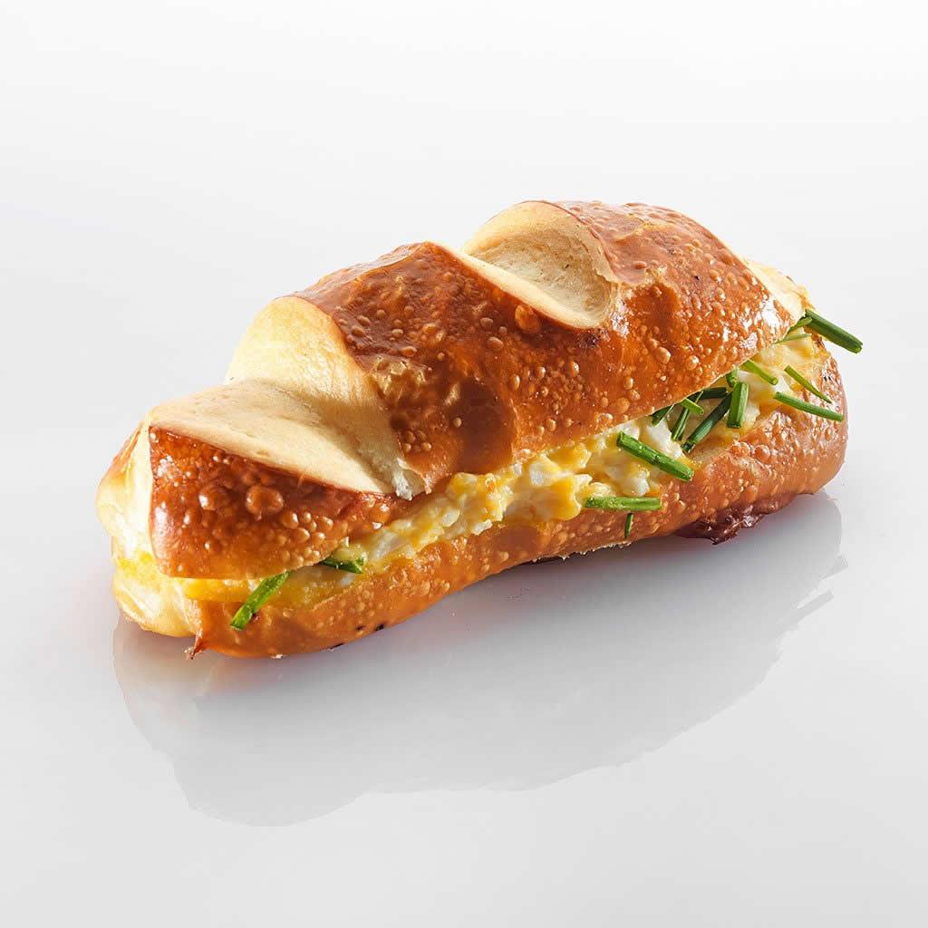 Sandwich: Silserli mit Ei und Schnittlauch
