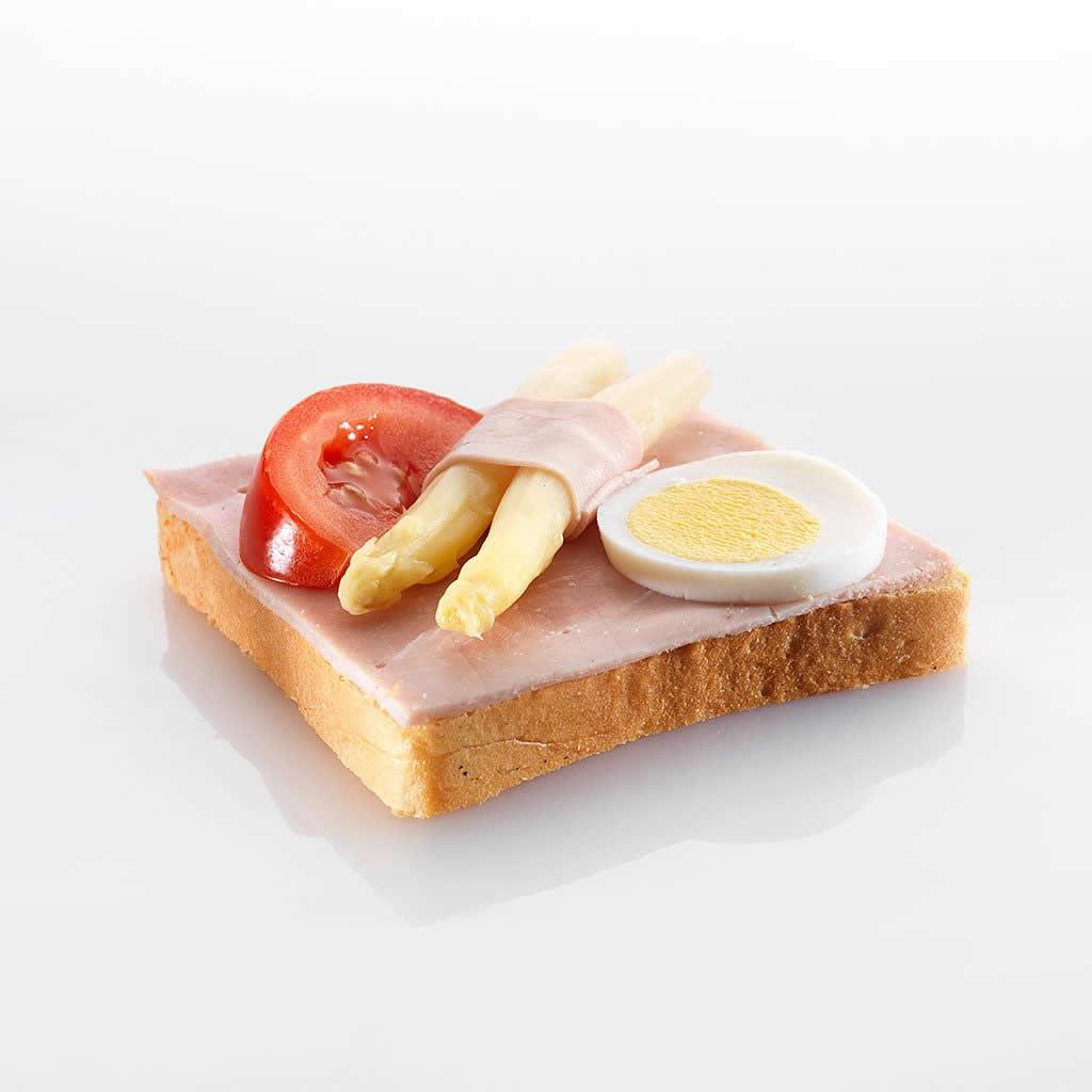 Canapé: Crevetten mit Ei