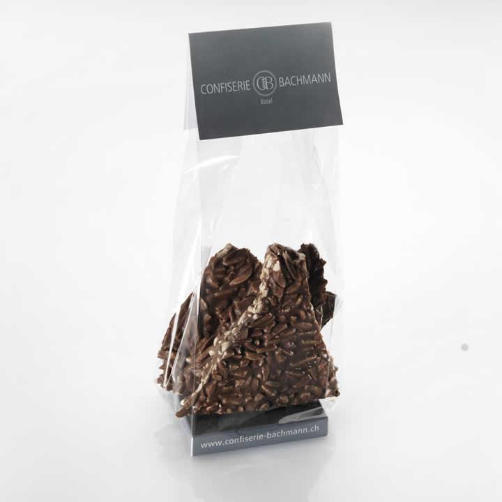 Bruchschokolade (dunkel) mit Mandeln